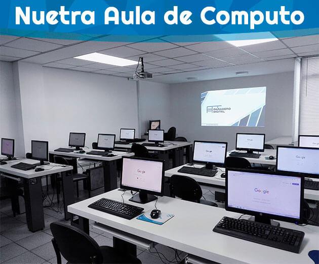aula de computo curso marketing digital